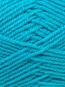 Worsted  Composition 100% Acrylique, Turquoise, Brand ICE, Yarn Thickness 4 Medium  Worsted, Afghan, Aran, fnt2-23744