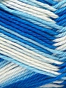 Fiber Content 100% Mercerised Cotton, White, Brand ICE, Blue Shades, Yarn Thickness 2 Fine  Sport, Baby, fnt2-23789