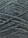 Worsted  Fiber Content 100% Acrylic, Brand ICE, Grey, Dark Grey, Yarn Thickness 4 Medium  Worsted, Afghan, Aran, fnt2-23890
