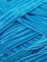 Width of the ribbon is 1.75 cm (5/8 inches) Fiber Content 100% Polyamide, Brand ICE, Blue, Yarn Thickness 6 SuperBulky  Bulky, Roving, fnt2-24436