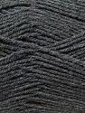 Fine Weight  Composition 100% Acrylique, Brand ICE, Dark Grey, Yarn Thickness 2 Fine  Sport, Baby, fnt2-24508