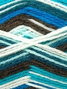 Fiber Content 70% Acrylic, 30% Wool, White, Turquoise, Brand ICE, Green, Brown, Blue, Yarn Thickness 3 Light  DK, Light, Worsted, fnt2-24555