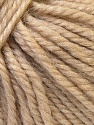 Fiber Content 40% Acrylic, 35% Wool, 25% Alpaca, Brand ICE, Beige, Yarn Thickness 5 Bulky  Chunky, Craft, Rug, fnt2-25395
