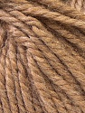 Fiber Content 40% Acrylic, 35% Wool, 25% Alpaca, Brand ICE, Camel Brown, Yarn Thickness 5 Bulky  Chunky, Craft, Rug, fnt2-25396
