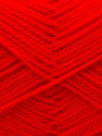 Composition 100% Acrylique, Red, Brand ICE, Yarn Thickness 2 Fine  Sport, Baby, fnt2-25527