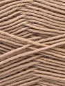 Fiber Content 100% Virgin Wool, Light Brown, Brand ICE, Yarn Thickness 3 Light  DK, Light, Worsted, fnt2-25653