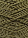 Fiber Content 100% Virgin Wool, Brand ICE, Dark Khaki, Yarn Thickness 3 Light  DK, Light, Worsted, fnt2-25655