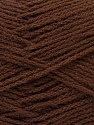 Fiber Content 75% Acrylic, 25% Wool, Brand ICE, Brown, Yarn Thickness 3 Light  DK, Light, Worsted, fnt2-25724