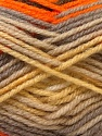 Fiber Content 60% Acrylic, 40% Wool, Yellow, Orange, Brand ICE, Grey, Brown, Yarn Thickness 3 Light  DK, Light, Worsted, fnt2-25944
