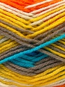 Fiber Content 60% Acrylic, 40% Wool, Yellow, White, Orange, Brand ICE, Grey, Yarn Thickness 3 Light  DK, Light, Worsted, fnt2-25945