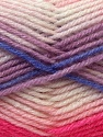 Fiber Content 60% Acrylic, 40% Wool, White, Pink, Lilac, Brand ICE, Blue, Yarn Thickness 3 Light  DK, Light, Worsted, fnt2-25949