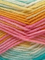 Fiber Content 60% Acrylic, 40% Wool, Yellow, White, Turquoise, Pink, Brand ICE, Yarn Thickness 3 Light  DK, Light, Worsted, fnt2-25950