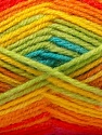Fiber Content 60% Acrylic, 40% Wool, Yellow, Red, Pink, Orange, Brand ICE, Green, Yarn Thickness 3 Light  DK, Light, Worsted, fnt2-25952
