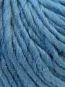 Composition 100% Laine, Light Blue, Brand ICE, Yarn Thickness 5 Bulky  Chunky, Craft, Rug, fnt2-26011