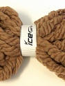 Superbulky A supersuperbulky yarn with elastan in the middle. You can make a scarf in minutes using your hands, you do not need any needles to knit for this yarn. You can even use the yarn without knitting. You can just use as is as a scarf. Composition 97% Laine australienne, 3% Elastan, Brand ICE, Camel, Yarn Thickness 6 SuperBulky  Bulky, Roving, fnt2-26164
