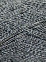 Very thin yarn. It is spinned as two threads. So you will knit as two threads. Composition 100% Acrylique, Brand ICE, Grey, Yarn Thickness 1 SuperFine  Sock, Fingering, Baby, fnt2-26709