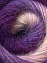 Composition 55% Acrylique, 45% Angora, White, Purple, Lilac, Brand ICE, Yarn Thickness 2 Fine  Sport, Baby, fnt2-26936