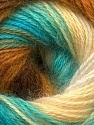 Fasergehalt 55% Acryl, 45% Angora, Turquoise, Brand ICE, Green, Cream, Brown, Yarn Thickness 2 Fine  Sport, Baby, fnt2-26941