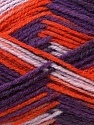 Fiber Content 70% Wool, 30% Acrylic, Purple, Orange, Lilac, Brand ICE, Yarn Thickness 3 Light  DK, Light, Worsted, fnt2-27185