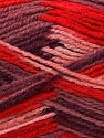 Fiber Content 70% Wool, 30% Acrylic, Red, Pink, Maroon, Brand ICE, Yarn Thickness 3 Light  DK, Light, Worsted, fnt2-27188