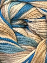 Composition 50% Bambou, 25% Coton, 25% Dralon, White, Brand ICE, Camel, Blue Shades, Yarn Thickness 2 Fine  Sport, Baby, fnt2-27289