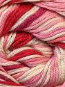 Composition 50% Bambou, 25% Dralon, 25% Coton, White, Red, Pink Shades, Brand ICE, Yarn Thickness 2 Fine  Sport, Baby, fnt2-27290