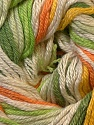 Fiber Content 50% Bamboo, 25% Cotton, 25% Dralon, Yellow, White, Orange, Brand ICE, Green Shades, Yarn Thickness 2 Fine  Sport, Baby, fnt2-27294