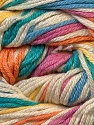 Fiber Content 50% Bamboo, 25% Cotton, 25% Dralon, Yellow, White, Turquoise, Orange, Brand ICE, Blue, Yarn Thickness 2 Fine  Sport, Baby, fnt2-27296