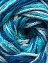 Composition 50% Coton, 50% Viscose, Brand ICE, Blue Shades, Yarn Thickness 2 Fine  Sport, Baby, fnt2-27310