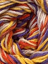 Composition 50% Coton, 50% Viscose, Yellow, Purple, Orange, Brand ICE, Cream, Yarn Thickness 2 Fine  Sport, Baby, fnt2-27311