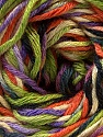 Fiber Content 50% Cotton, 50% Viscose, Orange, Lilac, Brand ICE, Green, Black, Yarn Thickness 2 Fine  Sport, Baby, fnt2-27313