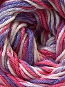 Fiber Content 50% Cotton, 50% Viscose, White, Pink, Lilac, Brand ICE, Yarn Thickness 2 Fine  Sport, Baby, fnt2-27314