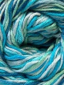 Fiber Content 50% Viscose, 50% Cotton, White, Turquoise, Brand ICE, Green, Blue, Yarn Thickness 2 Fine  Sport, Baby, fnt2-27315