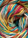 Composition 50% Coton, 50% Viscose, Yellow, White, Turquoise, Pink, Orange, Brand ICE, Yarn Thickness 2 Fine  Sport, Baby, fnt2-27317