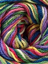 Composition 50% Coton, 50% Viscose, Rainbow, Brand ICE, Yarn Thickness 2 Fine  Sport, Baby, fnt2-27318