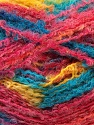 Fiber Content 50% Mohair, 50% Acrylic, Yellow, Turquoise, Salmon, Brand ICE, Yarn Thickness 3 Light  DK, Light, Worsted, fnt2-27641