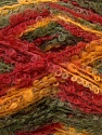 Fiber Content 50% Mohair, 50% Acrylic, Yellow, Red, Khaki, Brand ICE, Yarn Thickness 3 Light  DK, Light, Worsted, fnt2-27643