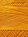 Fiber Content 100% Mercerised Cotton, Brand ICE, Gold, Yarn Thickness 0 Lace  Fingering Crochet Thread, fnt2-27801