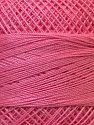 Fiber Content 100% Mercerised Cotton, Pink, Brand ICE, Yarn Thickness 0 Lace  Fingering Crochet Thread, fnt2-27805