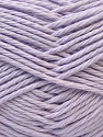 Baby cotton is a 100% premium giza cotton yarn exclusively made as a baby yarn. It is anti-bacterial and machine washable! Fiber Content 100% GizaCotton, Light Lilac, Brand ICE, Yarn Thickness 3 Light  DK, Light, Worsted, fnt2-27904