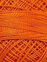 Composition 100% Coton mercerisé, Brand Oren Bayan, Orange, Yarn Thickness 0 Lace  Fingering Crochet Thread, fnt2-28765
