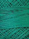 Fiber Content 100% Mercerised Cotton, Brand Oren Bayan, Dark Emerald Green, Yarn Thickness 0 Lace  Fingering Crochet Thread, fnt2-28807