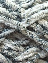 Chenille loops appears when black threads are used for knitting. Composition 90% Micro fibre, 10% Polyester, White, Brand ICE, Grey, Yarn Thickness 5 Bulky  Chunky, Craft, Rug, fnt2-29155