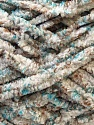 Chenille loops appears when black threads are used for knitting. Composition 90% Micro fibre, 10% Polyester, White, Turquoise, Brand ICE, Camel, Yarn Thickness 5 Bulky  Chunky, Craft, Rug, fnt2-29157
