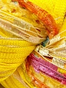 Fiber Content 100% Polyester, Yellow, Pink, Orange, Brand ICE, fnt2-29387