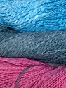 In this yarn a 100% Cotton flamme yarn is used. Dyeing process is totally hand made with natural plants and NO chemicals were used. Fiber Content 100% Cotton, Rose Pink, Brand ICE, Grey, Blue, Yarn Thickness 3 Light  DK, Light, Worsted, fnt2-29466