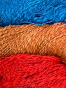 In this yarn a 100% Cotton flamme yarn is used. Dyeing process is totally hand made with natural plants and NO chemicals were used. Fiber Content 100% Cotton, Red, Brand ICE, Camel, Blue, Yarn Thickness 3 Light  DK, Light, Worsted, fnt2-29470