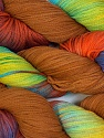 In this yarn a 100% Cotton lase yarn is used. Dyeing process is totally hand made with natural plants and NO chemicals were used. For this reason, please be advised that some white parts may remain. Fiber Content 100% Cotton, Yellow, Orange, Lilac, Brand ICE, Camel, Yarn Thickness 3 Light  DK, Light, Worsted, fnt2-29848