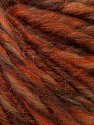 Fiber Content 40% Acrylic, 40% Wool, 20% Alpaca, Orange, Brand ICE, Brown Shades, fnt2-31097