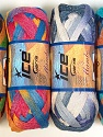 A fresh scarf  yarn wiith cotton content. Shiny and fresh! Fiber Content 70% Cotton, 30% Nylon, Mambo, Brand ICE, Yarn Thickness 6 SuperBulky  Bulky, Roving, fnt2-31350